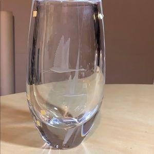 Orrefors Crystal Vase Sweden